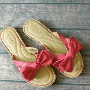 Sonoma | Red Bow Sandals